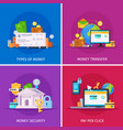 financial technology flat concept vector image vector image