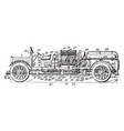 fire truck vintage vector image vector image