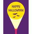 flashlight halloween vector image