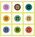 flat icons Halloween set of box with hand concept vector image vector image