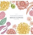 floral design with pastel poppy flower gerbera