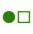 green grass background 3d set lawn greenery vector image vector image