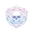 hand drawn sketch skull with maracas vector image vector image
