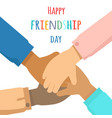 happy friendship day flat concept vector image vector image