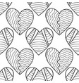 hearts black and white decorative seamless vector image vector image