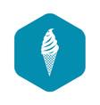 ice cream icon simple style vector image vector image