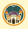 islamic ramadan eid mubarak mosque banner vector image vector image