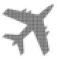 jet plane halftone icon vector image vector image