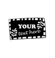 labels with floral designs tag with sample text vector image