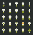 Lamp and light bulb concept icon set vector image vector image