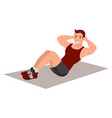 man doing sit up vector image