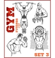 Men - bodybuilders GYM bodybuilding vector image