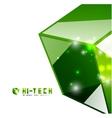 modern 3d glass cube design template