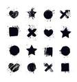 modern art stickers grunge backgrounds place