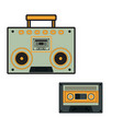 music player radio icon cassette tape vector image vector image