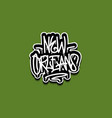 new orleans louisiana usa hand lettering graffiti vector image vector image