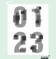 Number font template modern design