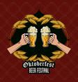 oktober fest card vector image vector image