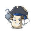 pirate champignon mushroom character cartoon vector image vector image