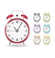 Realistic Clock Alarm Watch Set vector image vector image