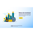 return on investment concept with icon and vector image vector image