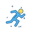 running icon design vector image vector image