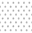 seamless background with silver eggs vector image vector image