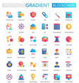 set of trendy flat gradient blockchain vector image vector image