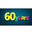 Sixty years paper sign vector image vector image