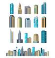 skyscraper buildings modern building flat office vector image vector image
