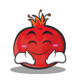 smile face pomegranate cartoon character style vector image vector image