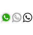 social media icon set for whatsapp in different vector image