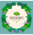 Succulents wreath vector image vector image