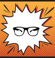 sunglasses sign comics style vector image