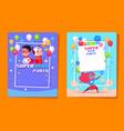 superhero kids party preschool children vector image vector image