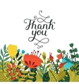 thank you card with handdrawn lettering vector image vector image