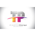 tp t p letter logo design with creative lines and vector image vector image
