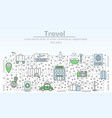 travel advertising flat line art vector image vector image