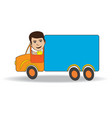 truck-driver vector image vector image