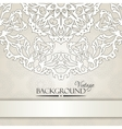 Vintage beige elegant invitation card vector image