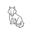 wolf line icon concept wolf linear vector image vector image