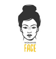 womens faces object vector image vector image