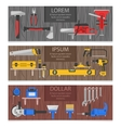 Work Tools Horizontal Banners Set vector image vector image