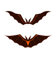 bat dark logo happy halloween bat cartoon vector image
