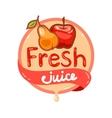 fresh juice emblem 8 vector image