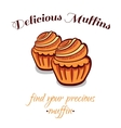 Pastry Delicious Muffins vector image