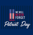 119 11 patriot day usa banner vector image vector image