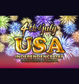 4 july usa independence day gold balloon firework vector image