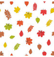 abstract autumn leavesseamless pattern background vector image