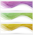 Abstract crystal wave speed line website header vector image vector image